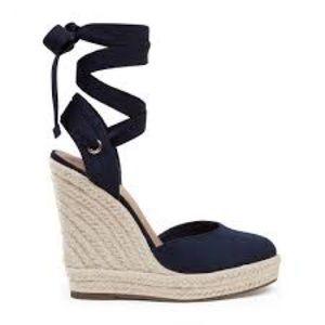 Shoes - Nine West Lace Up Espadrille Wedge Sandals